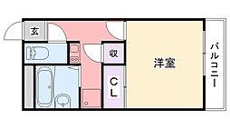 レオパレス武庫川[209号室]の間取り