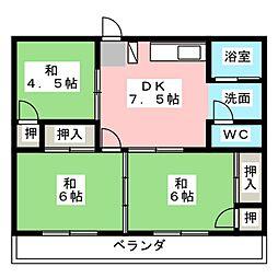 八事石坂ビル[3階]の間取り