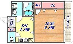 モアライフ魚崎[206号室]の間取り
