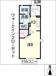 スプリングU[1階]の間取り