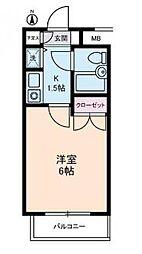 ジョイフル蒲田 bt[209kk号室]の間取り