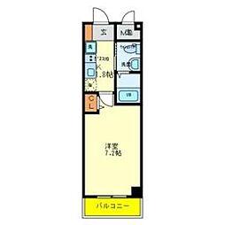 Osaka Metro谷町線 喜連瓜破駅 徒歩8分の賃貸マンション 3階1Kの間取り