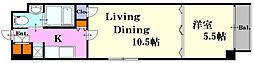 広島県広島市中区本通の賃貸マンションの間取り