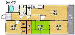 レジェロ住之江[6階]の間取り