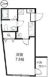 東武東上線 東武練馬駅 徒歩3分の賃貸マンション 2階1Kの間取り