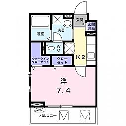 ドミール関空弐番館[2階]の間取り