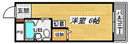 パークサイド堺[2階]の間取り