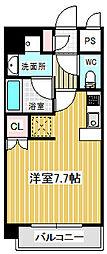 愛知県名古屋市中村区砂田町1丁目の賃貸マンションの間取り