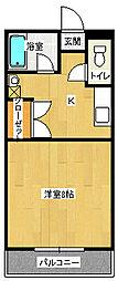 オーシャンCITY1[3階]の間取り