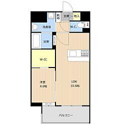 仮称)野間1丁目_101マンション 8階1LDKの間取り