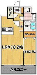 ラーナ 福岡東[7階]の間取り