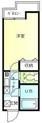 アーブ上大岡[102号室]の間取り