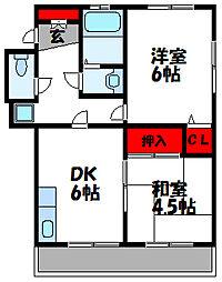 香ハイムII[2階]の間取り