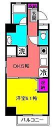 ケフィーズ・クニミ[203号室]の間取り