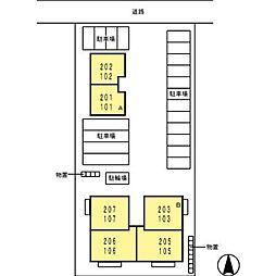 Seyny南浅井 A[1階]の外観