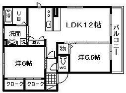 シャーメゾンラパン[2階]の間取り