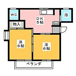 リバーサイド52[1階]の間取り