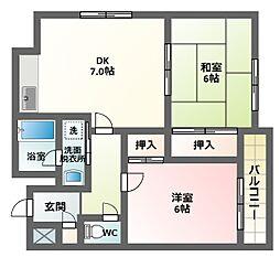 南田辺越部興産ビル[3階]の間取り