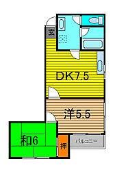 アパートメントオーランド[202号室]の間取り