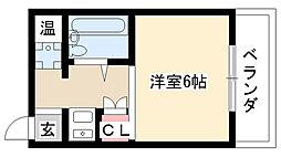 愛知県名古屋市昭和区駒方町4丁目の賃貸マンションの間取り