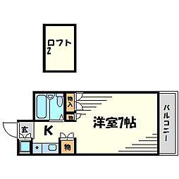 パシフィック南武庫之荘[5階]の間取り