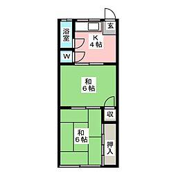 杉江荘[1階]の間取り