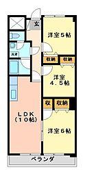 グランドールK−1(ペット可)[3階]の間取り