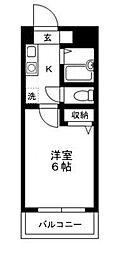 レジデンスSUDA[207号室]の間取り