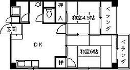 オーティーハイツ広田[304号室]の間取り
