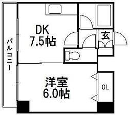 コスモス東札幌[501号室]の間取り