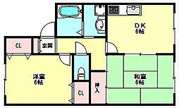 兵庫県神戸市垂水区西脇2丁目の賃貸アパートの間取り
