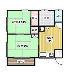 三宅荘[201号室]の間取り