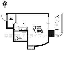 朝日プラザ鴨川II401号室[4階]の間取り