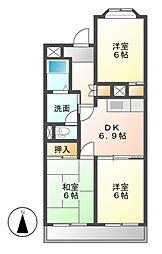 ATLANTIS[4階]の間取り
