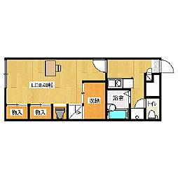 北海道室蘭市八丁平3丁目の賃貸アパートの間取り