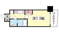 SERENiTE三宮[6階]の間取り