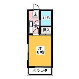 ハイムキトウ[2階]の間取り