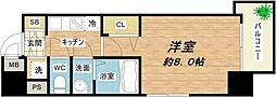レジュールアッシュ天王寺堂ヶ芝[12階]の間取り