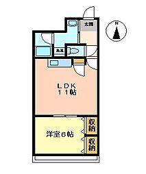 住吉マンション[2-D号室]の間取り