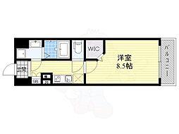 JPレジデンス大阪城東4 3階1Kの間取り