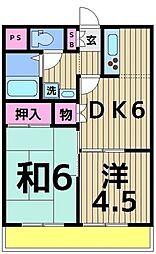 メゾンフローラ[3階]の間取り