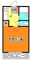 東京都西東京市住吉町3丁目の賃貸アパートの間取り
