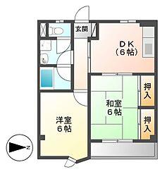 三鈴ハイム[3階]の間取り