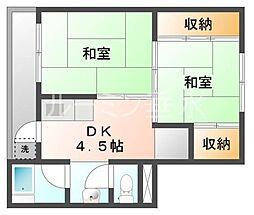 ビレッジハウス小坂1[2階]の間取り