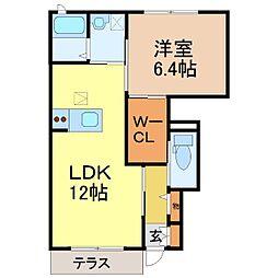 エイトタウン475[1階]の間取り