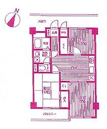 多摩パークパレス[3階]の間取り