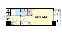 willDo三宮イースト[4階]の間取り