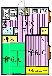 ハウス1001[1階]の間取り