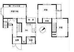 [一戸建] 神奈川県横浜市中区北方町1丁目 の賃貸【/】の間取り