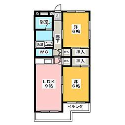グランドゥール21[2階]の間取り